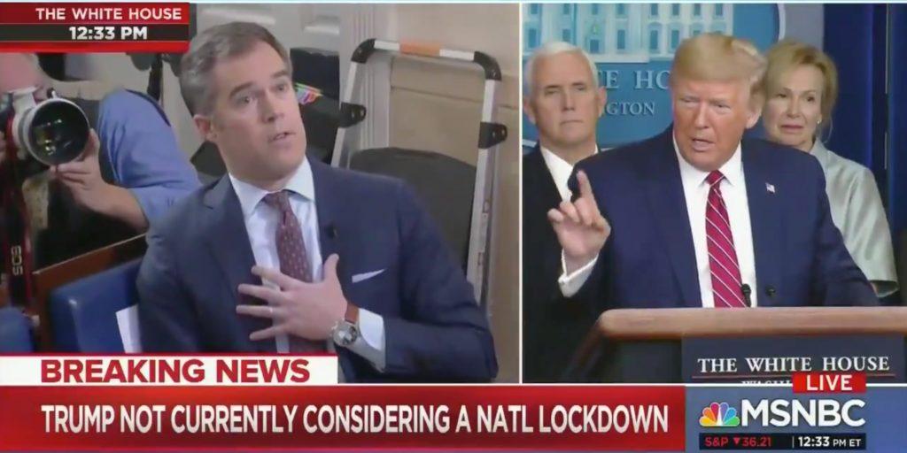 Virus Outbreak: Trump defends response, rails at reporters